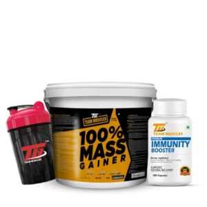 TM Mass Gainer-(5Kg)-100% Authentic Product & TM Premium Immunity Booster with Free Shaker